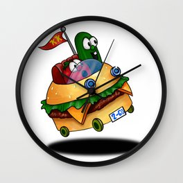 Bob & Larry Ride the Patty Wagon Wall Clock