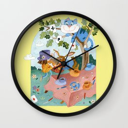 Mad teaparty 'Alice in Wonderland' Wall Clock