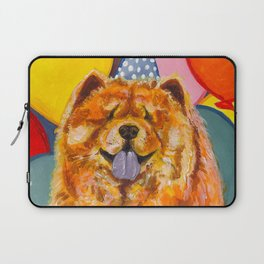 Chow Chow with Balloons Laptop Sleeve