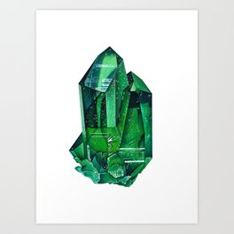 Emerald Mineral Dream Art Print