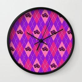 Argyle Cheshire CAT-erpillar  Wall Clock