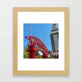 Navy Pier Beer Garden Framed Art Print