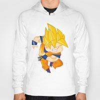 goku Hoodies featuring Goku SSJ  by Juan David Giraldo Ramirez