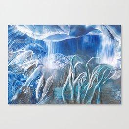 Ice cave Canvas Print