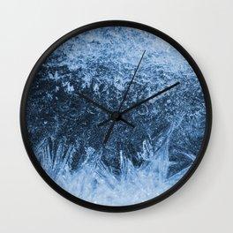 Ice Winter Pattern Wall Clock