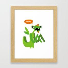 Grasshopper - Dude. Framed Art Print