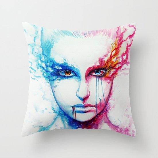 """Bipolarity"" Throw Pillow"