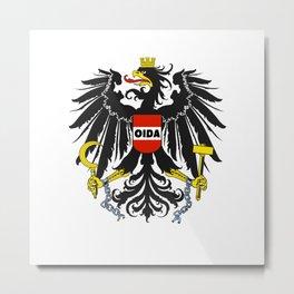Oida Austria Austria Dialect Eagle Metal Print