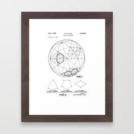 Buckminster Fuller 1961 Geodesic Structures Patent Framed Art Print