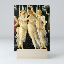 """Sandro Botticelli """"Spring"""" The Three Graces (1) Mini Art Print"""