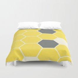 Yellow Honeycomb Duvet Cover
