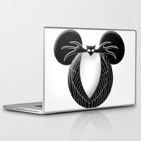 jack skellington Laptop & iPad Skins featuring Jack Skellington Mouse by Miranda Copeland