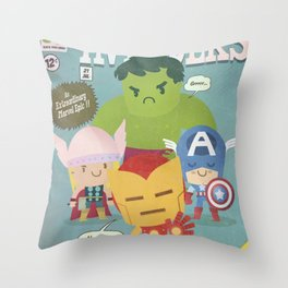 avengers fan art Throw Pillow