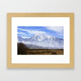 Mountain Peaks speak Framed Art Print