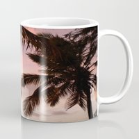 palm trees Mugs featuring palm trees by NatalieBoBatalie