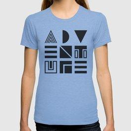 Geometric Adventure B&W T-shirt