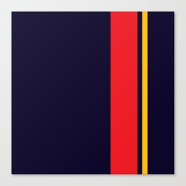 Navy Racer Canvas Print