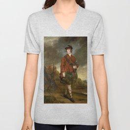 "Sir Joshua Reynolds ""John Murray, 4th Earl of Dunmore"" Unisex V-Neck"