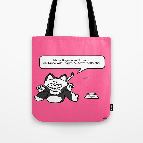 the wise cat - intelligence Tote Bag