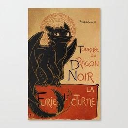 Le Dragon Noir Canvas Print