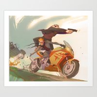 Agent Calvin and Hobbes: The Worlds a Playground Art Print