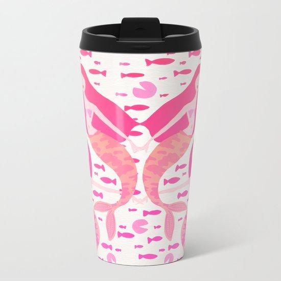 Koi Mermaids – Pink Palette Metal Travel Mug