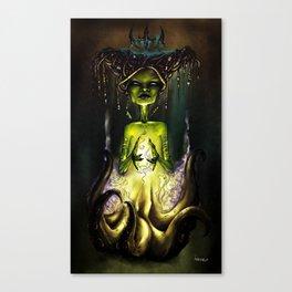 Octopus Voodoo Witch Canvas Print