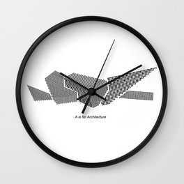 Denver Art Museum - A is for Architecture Wall Clock