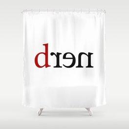 n e r d_blk Shower Curtain