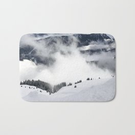 Winter Mountainscape Bath Mat