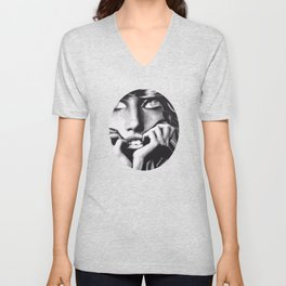 Tabatha's Thinking Unisex V-Neck