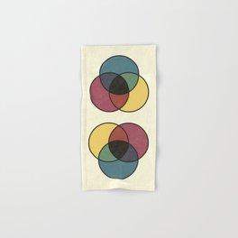 Matthew Luckiesh: The Subtractive Method of Mixing Colors (1921), vintage re-make Hand & Bath Towel