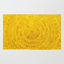 Golden Flower Mandala Rug