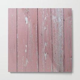 red old rustic wood wall Metal Print