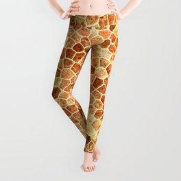 Faux Giraffe Skin Abstract Pattern Leggings