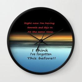 Amnesia Deja vu Wall Clock