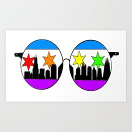 chicaGOggles Pride Art Print
