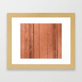 Rose gold antique wood Framed Art Print