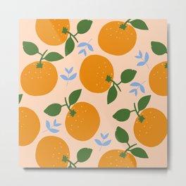 Oranges - gouache painting Metal Print
