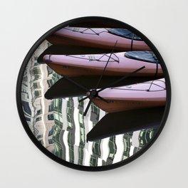 Kayak Reflections Wall Clock