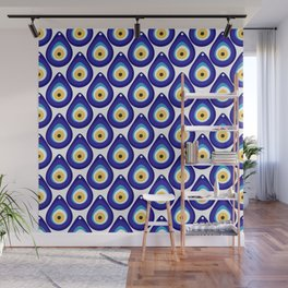Evil eye protection pattern Wall Mural