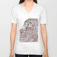 ape V-neck T-shirts featuring Ape by Guillem Bosch