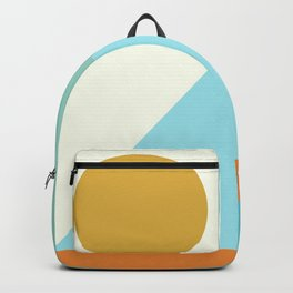 Angles and Shapes in Aqua, Turquoise, Orange, and Gold Backpack