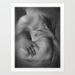 Rape on Persephone drawing Art Print