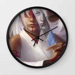 Through a Blade Darkly Wall Clock