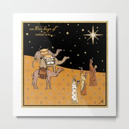 Christmas Nativity - We Three Kings Amanya Design Metal Print