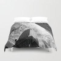 metropolis Duvet Covers featuring Metropolis - New York City by Vivienne Gucwa