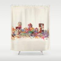 kansas Shower Curtains featuring wichita kansas by bri.buckley