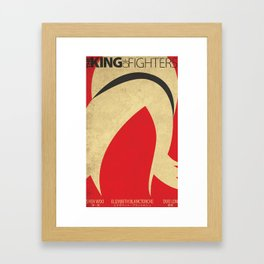 Ash Crimson Minimal (The King of Fighters XIII teams series) Framed Art Print