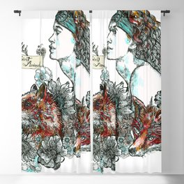 Red Fox. Blackout Curtain